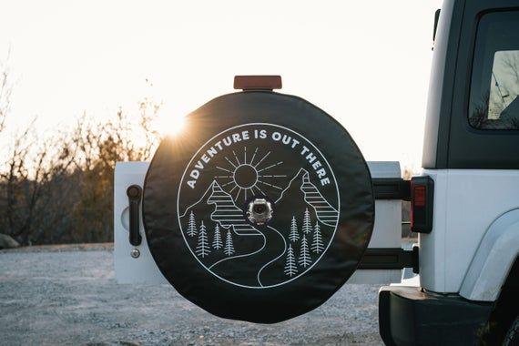 Jl Jeep Tire Cover With Backup Camera Adventure Is Out There