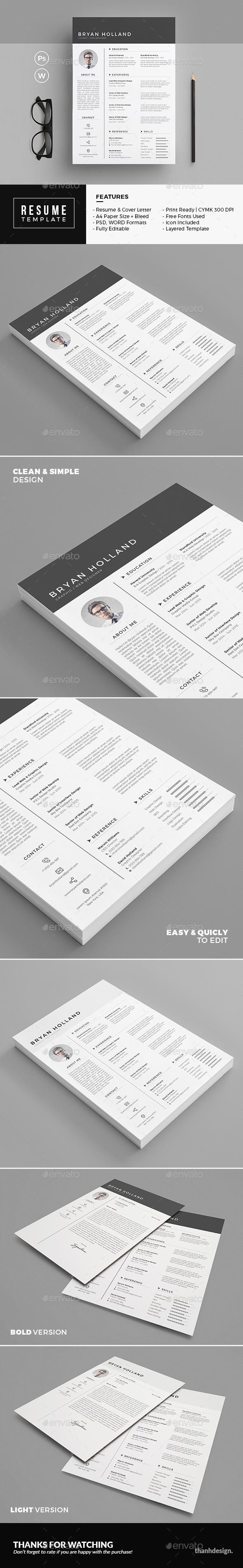 Resume for 7 GraphicRiver BestDesignResources 48