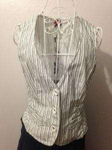 Vest- Fitted and striped size 10