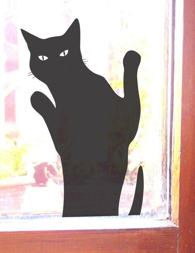 Unique Katze die reinkommen will Aufkleber Wandtattoo