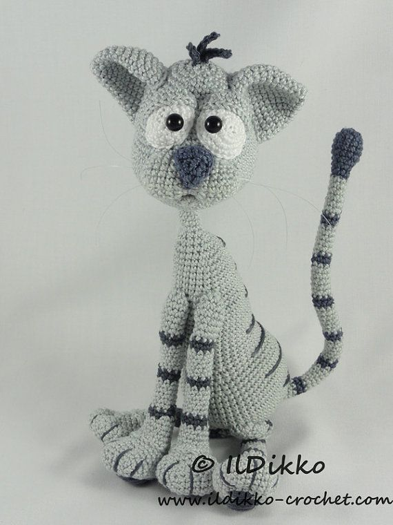 This listing is for a crochet pattern and not a finished item!!!  Kit the Cat:  The pattern is very detailed and contains a lot of pictures. Kit has a