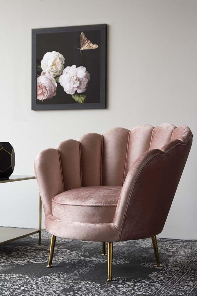 Rose Pink Velvet Petal Armchair In 2020 Room Decor Pink