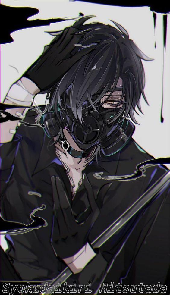 Animeboy Mask Blackhair Gambar Manga Gadis Animasi Gambar Tokoh