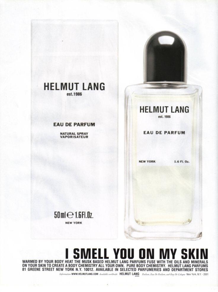 Helmut Lang - Fragrance campaign - Jenny Holzer