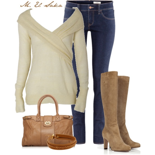 """""""Lovely"""" by mohamed-el-saka on PolyvoreSweaters, Earth Tone, Fashion, Style, Clothing, Casual, Jeans Outfit, Fall Outfit, Dreams Closets"""