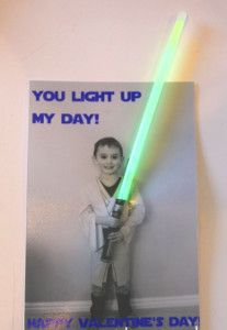 May the love be with you this Valentine's Day! Impress all of your friends with Luke Skywalker's Light Saber Valentine.