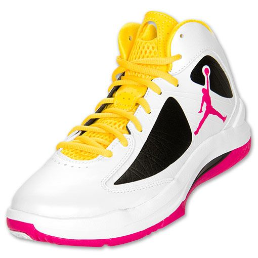 Jordan Aero Flight Men\u0026#39;s Basketball Shoes | FinishLine.com | White/Yellow/Pink/Black | Love Clothes \u0026amp; Shoes | Pinterest | Basketball Shoes, Basketball and ...