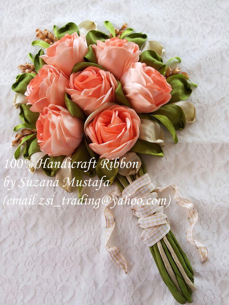 100% Handicraft Ribbon by Suzana Mustafa email zsi_trading@yahoo...
