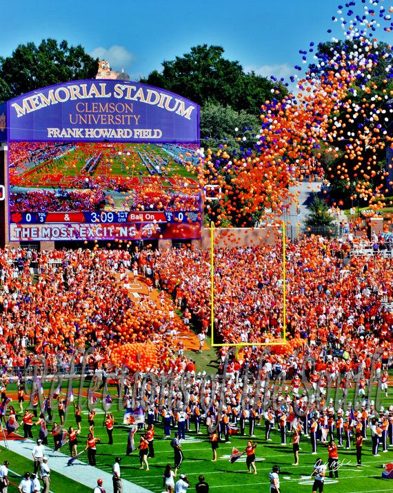Clemson Football Entering Death Valley art by ReflectionOfTheSouth, $12.00