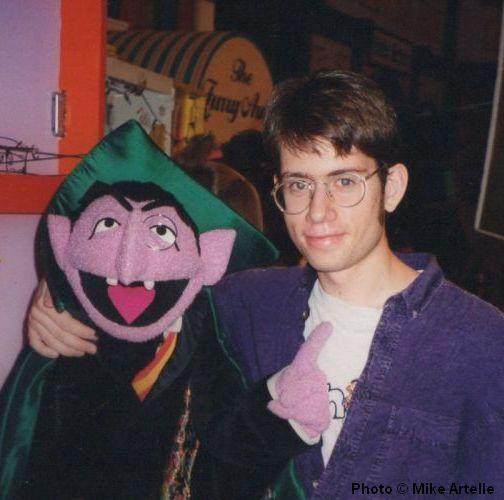 During my visit to the set of Sesame Street in 1995 I got a picture taken with the Count. He's my favourite Sesame Muppet!!!!