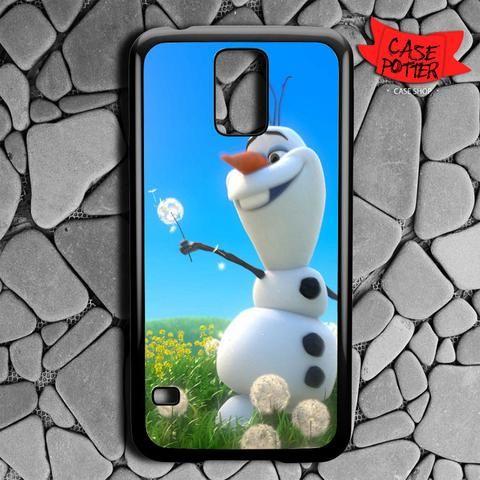 Olaf Playing Flower Dandelion Samsung Galaxy S5 Black Case