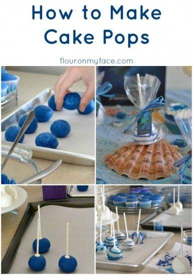 How to Make Cake Pops via flouronmyface.com