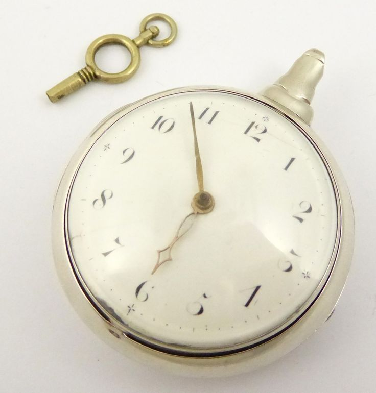 Antique Hallmarked 1807 Fusee Verge Sterling Silver Pair Case Pocket Watch Youldon - The Collectors Bag