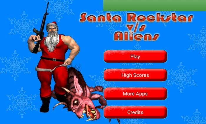 Santa Rockstar vs Aliens : Kill all aliens and save the Christmas