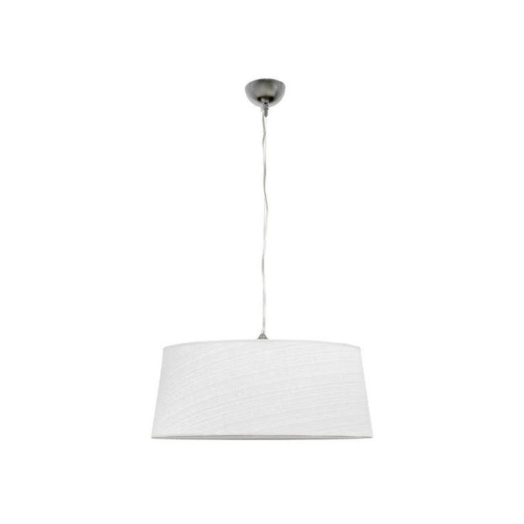Lámpara de Techo para salón de diseño moderno con una pantalla textil de 50cm de diámetro que aloja en su interior un casquillo para una Bombilla LED con rosca E27 a un precio increíble