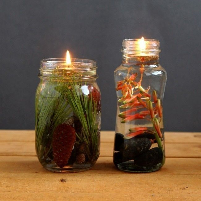 vela de aceite - lámpara de aceite- diy