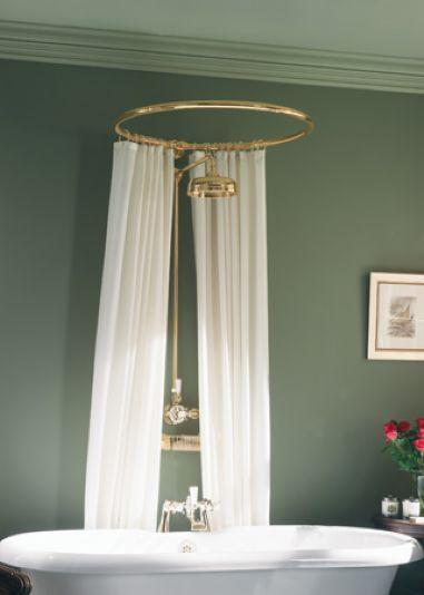 Circular Shower Curtain Rod Bathroom Remodel Pinterest