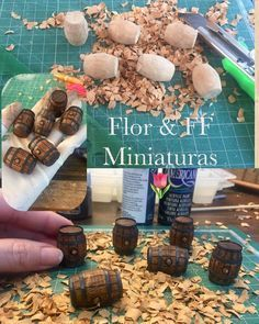 Más barriles #mini #miniature #miniatura #dollhouse #florffminiaturas #dollhouseminiatures #scala #escala 1:12 #barril #rustic #rusty #madera #guadalajara #jalisco #mexico