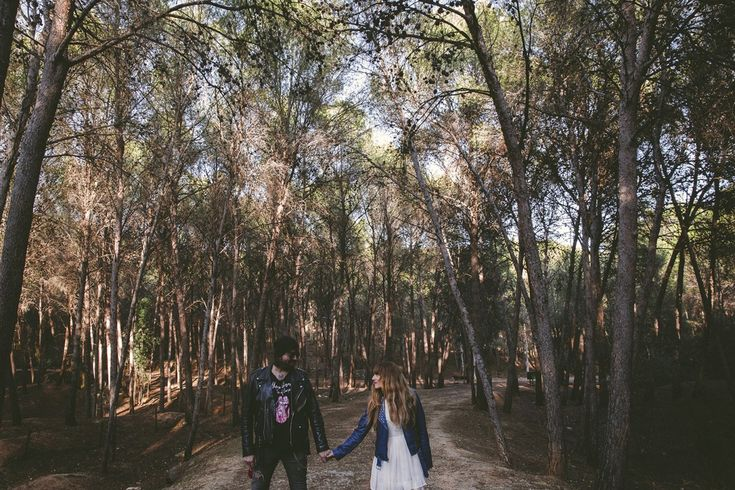 fotografía boda tatuajes bosque málaga