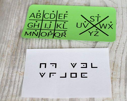 Some great secret message ideas - Wolf Elective 1a: Use a secret code.