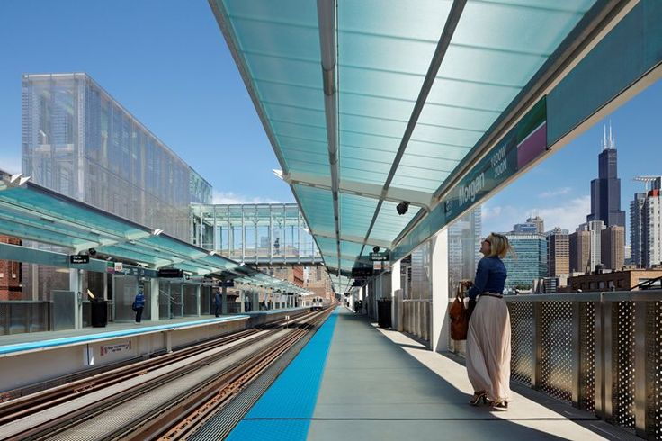 CTA Morgan Street Station , Chicago, 2012 - dott.gallina