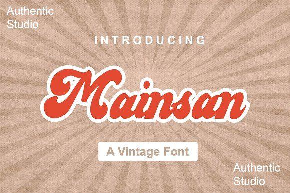 Mainsan In 2020 Vintage Fonts New Fonts Social Media Graphics