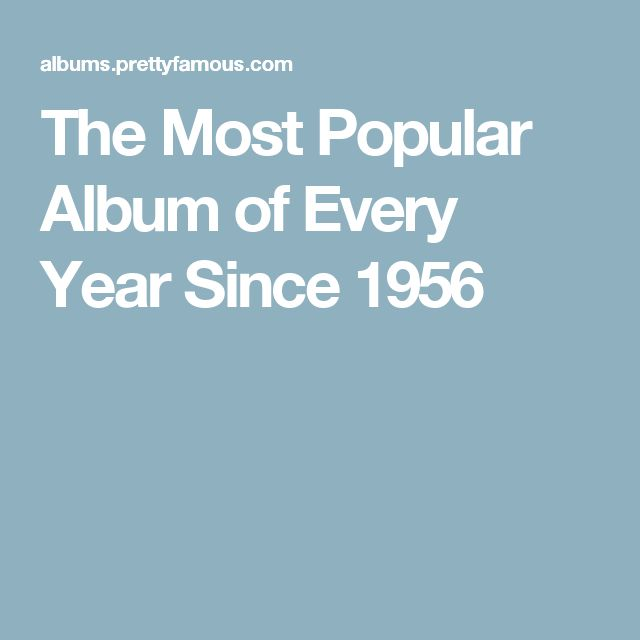 The Most Popular Album of Every Year Since 1956