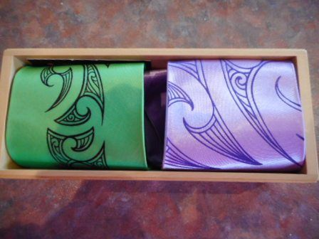 Beautiful box ties sent to me from Wellington