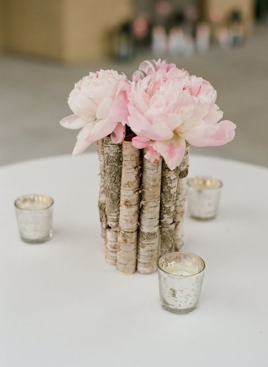 peonies with birch wood vase Decor, Ideas, Blush Peonies, Wood Vases ...