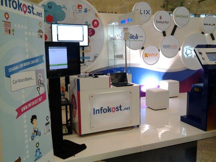Booth kita di #inaicta bareng GDP Venture, Blibli.com en Lintas.me #infokost