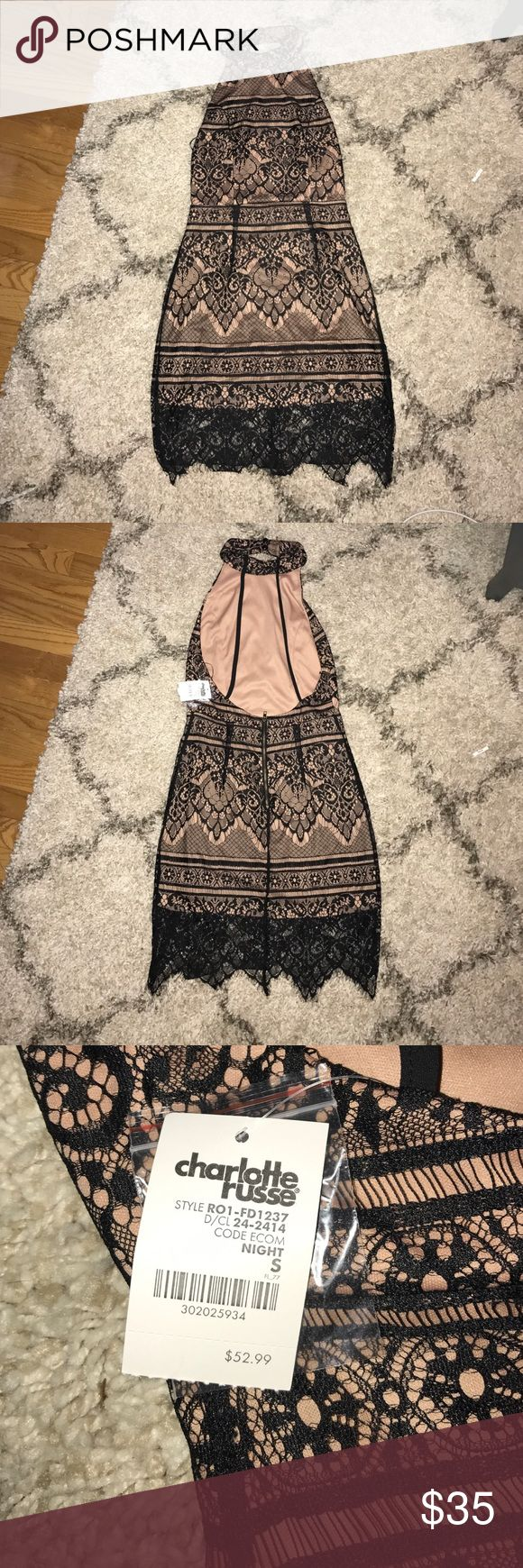 Charlotte Russe Bodycon Lace Dress Open back Bodycon dress Charlotte Russe Dresses Mini