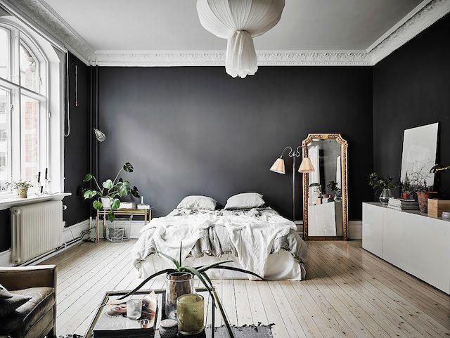 A Dramatic Swedish Space With Black Walls | my scandinavian home | Bloglovin'