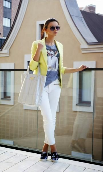 Look com Blazer Amarelo - Moda it | Moda It