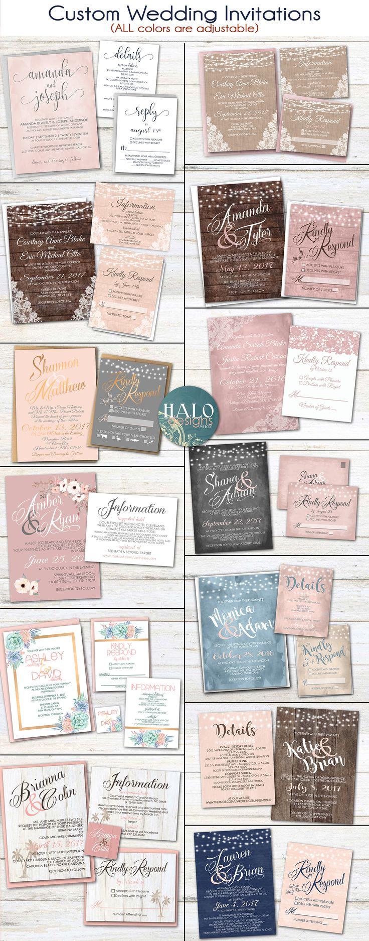 Cancun Wedding Invitation Design Dusty Rose Wedding