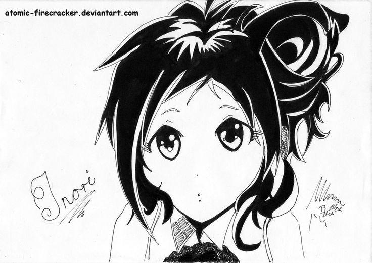IE - Inori Aizawa! Inked... :D by atomic-firecracker