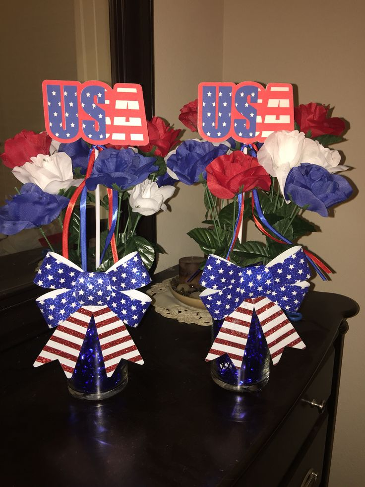 Easy Memorial Day And Or 4th Of July Decor Centerpiece