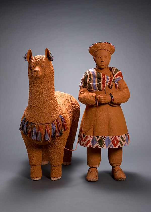 Andes (2014)  47×91×120.3cm, 47.5×42.1×123.5cm  Onggi Clay, Terra Sigillata, Terracotta Hand-building