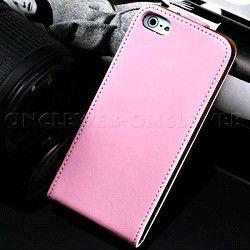 Étui iPhone 5s cuir rose Rancho sur www.etui-iphone.com