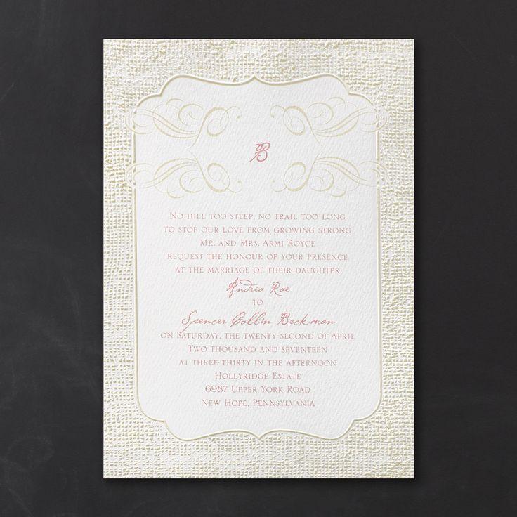 free wedding borders for invitations%0A Burlap Border Invitation  u   e Wedding Invitations   Carlson Craft Wedding  u      Stationery Products   NORTH MANKATO