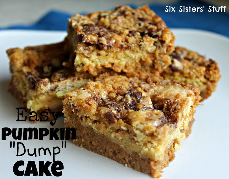 Pumpkin Dump Cake | Recipe | Pumpkins, Cakes and Cream