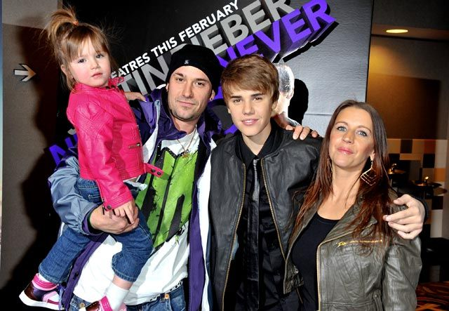 Justin Bieber and his family