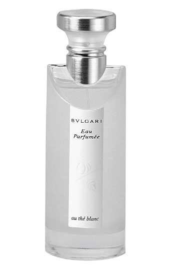 Eau Parfumée au thé blanc is a delicate fragrance of warm, intimate and relaxing notes designed to be enjoyed in private moments of luxury. White tea is the main ingredient in the fragrance.    Notes: artemisia, pepper, tea, abelmosk, ambergris, musk.