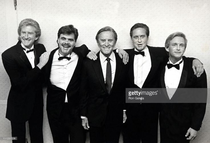 Peter Douglas, Joel Douglas, Kirk Douglas, Michael Douglas, and Eric Douglas…(JOEL DIED OF AN OVERDOSE)………….