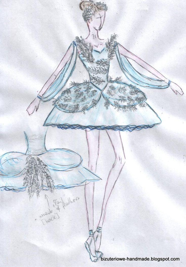 White Swan Swan lake ballet costume design  bizuteriowe-handmade.blogspot.com