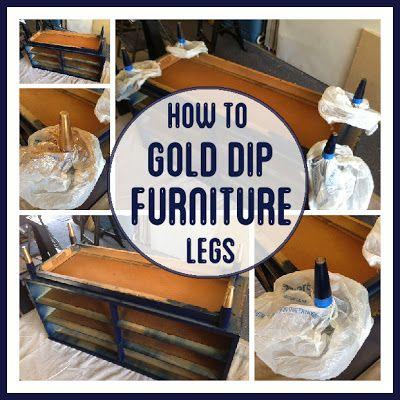 Gold Dipped Furniture Legs