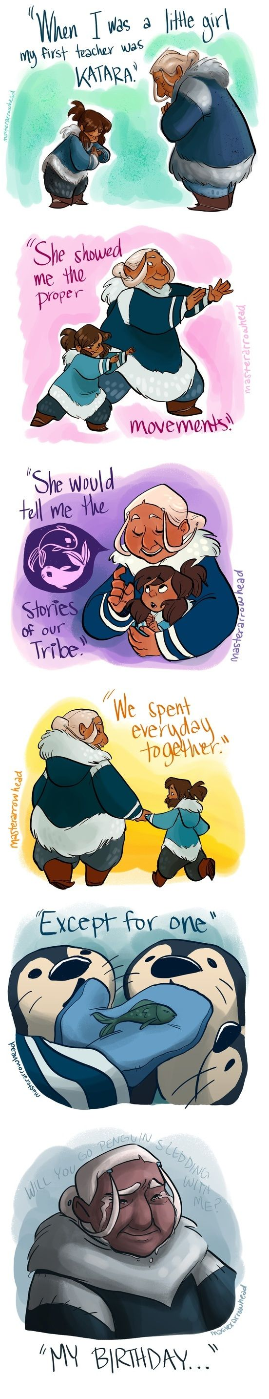 It took me a bit to get this one...It's because Korra was born on the day Aang died :,( so sad!
