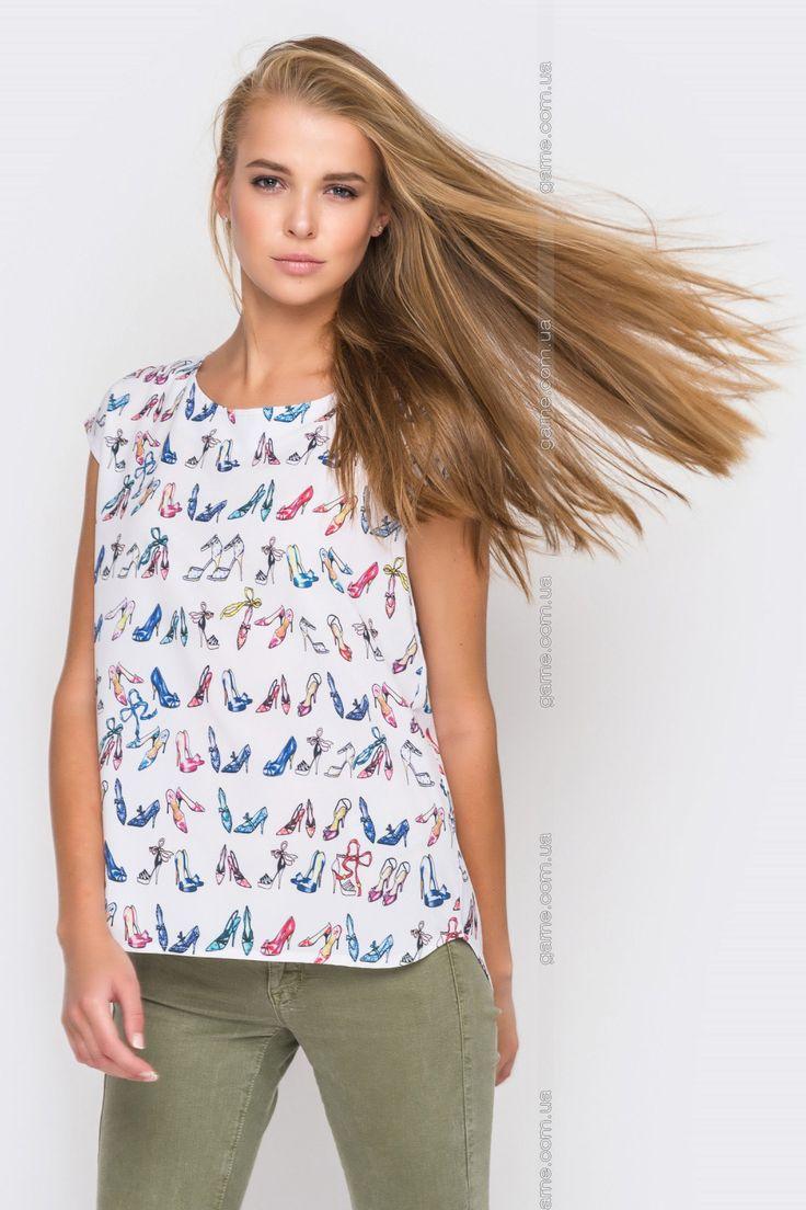 Блуза женская. Блузы, рубашки. Цвет: белый. #3101159