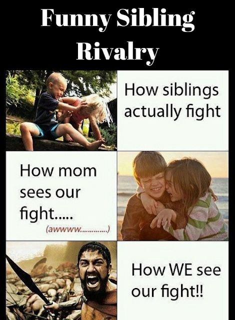 "Funny Sibling Rivalry. If you have a sibling, you will understand and love these pictures of siblings fighting. If not, consider yourself lucky that you were the ""one"" and didn't need to fight for attention. In the end we do love our brothers and sisters, but we do need some space from time to time. #rosaforlife"