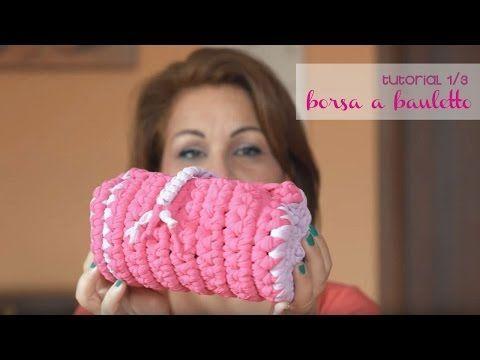 tutorial#6 parte 1 - Come realizzare borsa bauletto con fettuccia - YouTube