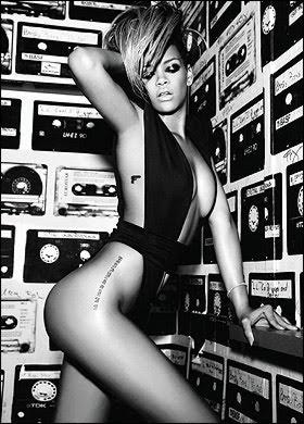 Rihanna hip tattoo